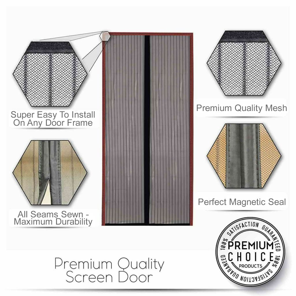 magnetic fly screen french doors Lambton Quay